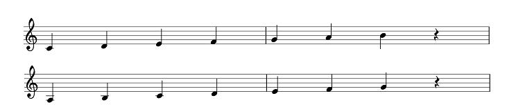 平行調の音階